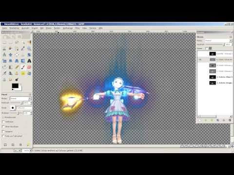 Gimp: Remove Background from Picture w/ Glow-Effects (german, description for english) [Tutorial 1]
