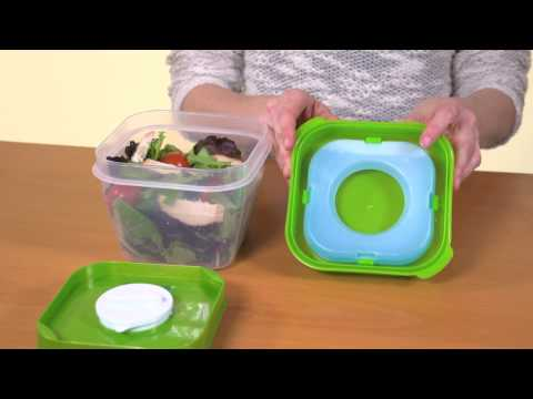 Fit & Fresh Salad Shaker Lunch Container Video