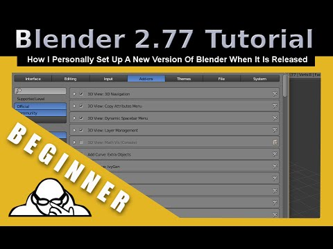 How I Personally Set Up User Preferences For Blender