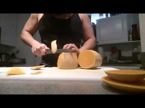 Easy way to peel a butternut squash.