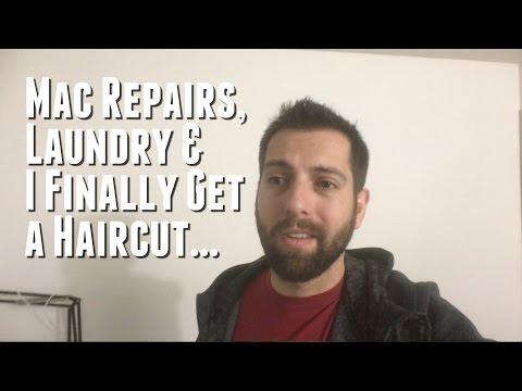Mac Repairs, Laundry & I Finally Get a Haircut... (Day 407 - 12.12.2015)