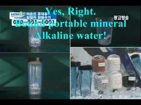 Video-Total Trading-Ionizer Mineral Alkaline Water Tumbler Home Shopping-Made in Korea