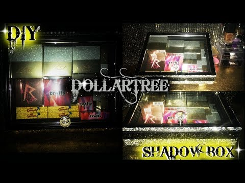 DIY SHADOW BOX WITH TONS OF BLING...DOLLAR TREE EDITION!!!