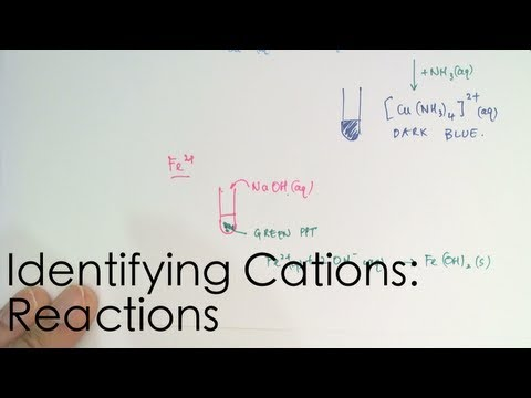Identifying Cations: Reactions