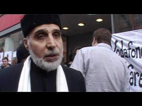 Vodafone Shop Shut Down by Protestors
