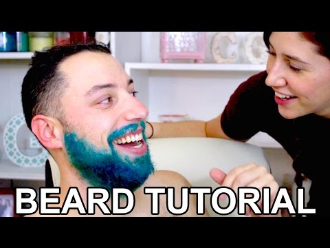 How to DYE YOUR BEARD tutorial / DIY color