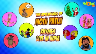 Motu Patlu Rhymes - 2 hours of Rhymes - Available Worldwide!