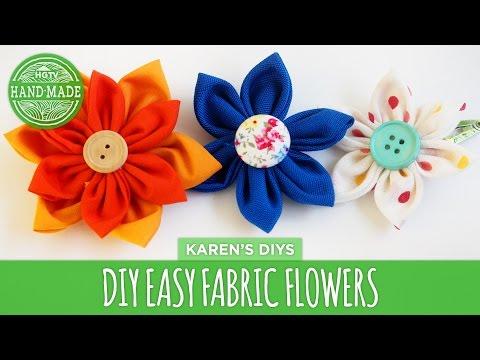 DIY Easy Fabric Flowers - HGTV Handmade