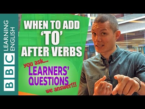 Learners' Questions: Verb Patterns - full and bare infinitives