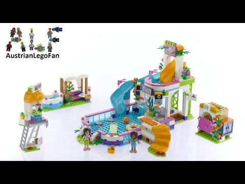 Lego Friends 41313 Heartlake Summer Pool - Lego Speed Build Review