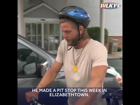 Man riding bike cross-country to raise money for children's hospital