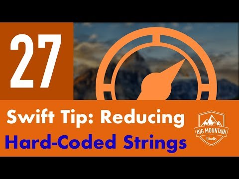 Swift Tip: Reduce Hard-Coded Strings - Part 27 - Itinerary App (iOS, Xcode 10, Swift 4)