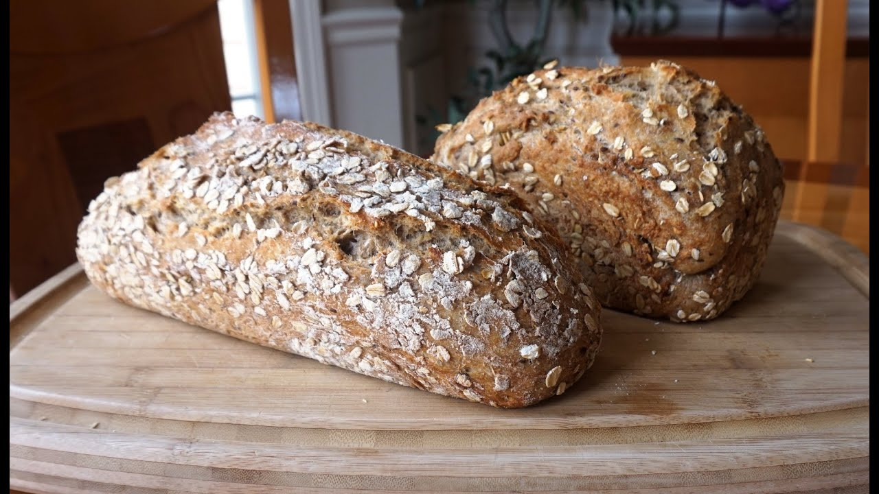 No-Knead Multigrain Whole Wheat Bread… super easy… no machines (updated)