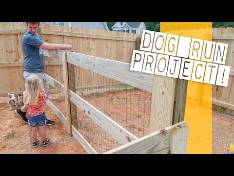 BACKYARD FENCE RENOVATION! The Backyard Dog Run Project!