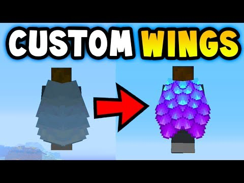 MINECRAFT HOW TO GET CUSTOM ELYTRA WINGS (Ps3/Xbox360/PS4/XboxOne/WiiU)