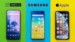 OnePlus 7 Pro vs Galaxy S10+ vs iPhone XS Max