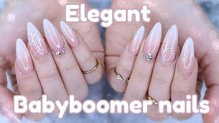 HOW TO: ELEGANT BABY BOOMER NAILS   WEDDING NAILS
