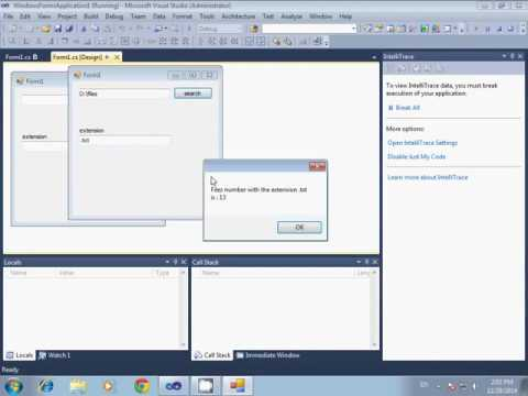Counting files extension in a specific directory using c# 2010