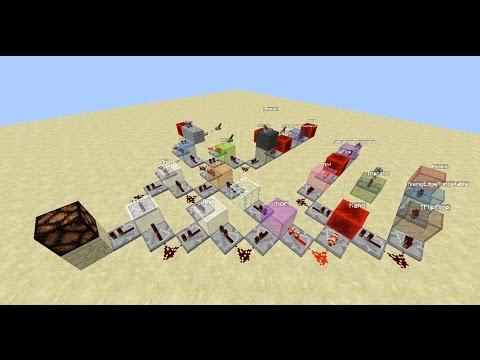 Logic Blocks, Logic gates in Minecraft