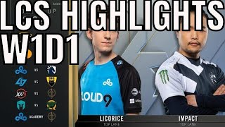 LCS Highlights ALL GAMES Week 1 Day 1 Spring 2020 League of Legends Championship Series