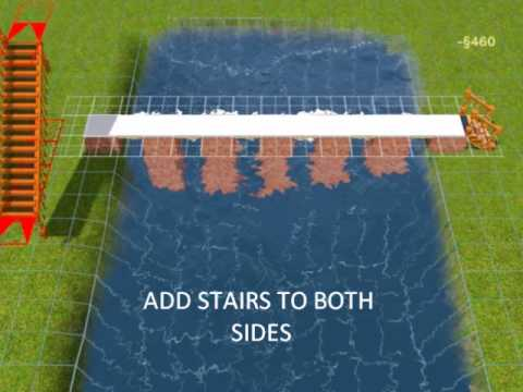 SIMS 3:HOW TO BUILD A BRIDGE OVER A POND