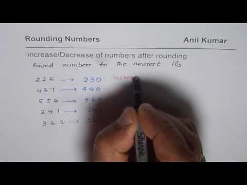 Concept of Increase and Decrease of Number after rounding