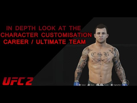 UFC 2 : In Depth Look At The Character Customisation For Career / Ultimate Team
