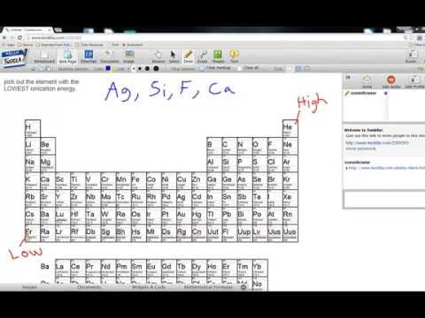 Comparing Ionization Energy Examples Video 1