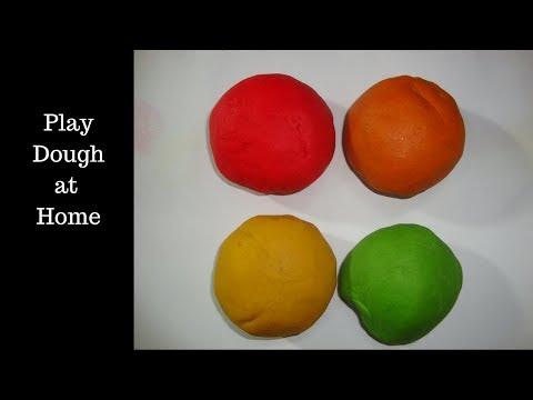 homemade playdough. how to make playdough at home.