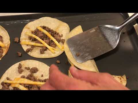 Crazy Cheap Meal-Hamburger Tacos,Homemade Spanish Rice & Canned Refried Beans