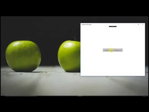 How to change desktop background using #UWP