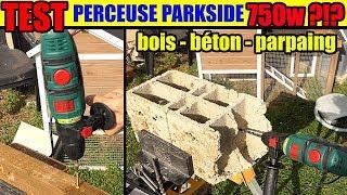 UNBOXING Parkside Hammer Drill PSBM 750 B2 (Lidl 750watt
