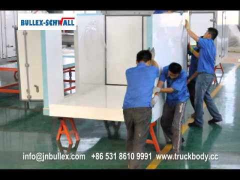 Bullex-Schwall refrigerated truck body assemble video.