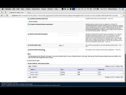 WebLogic Server 12.2.1 - Elastic Cluster Scaling with WLST