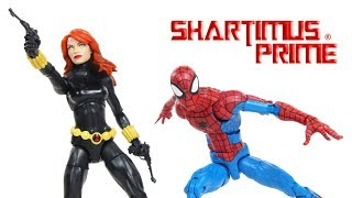 Marvel Legends Spider Man & Black Widow Vintage Collection Super Heroes Hasbro Figure Toy Review