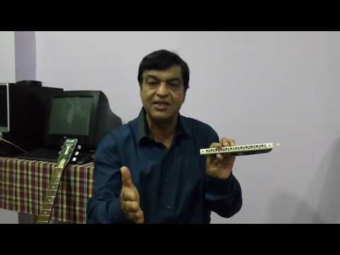 Techniques of Chromatic Harmonica (Mouth Organ) - Tutorial-2 in Hindi