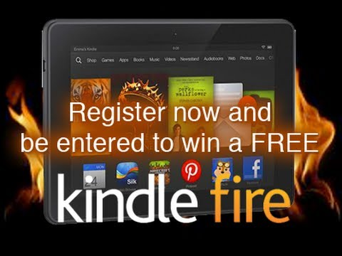 Register to win a Free Kindle Fire