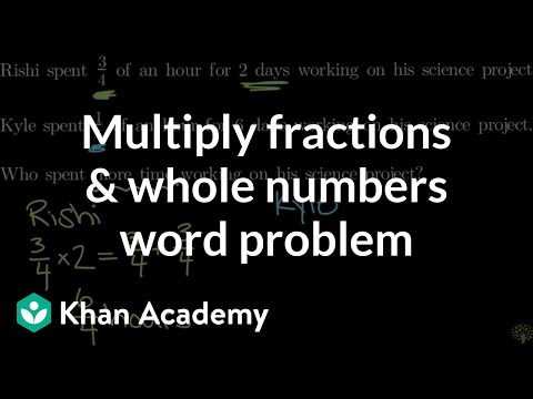 Multiplying fractions by whole numbers word problem | Math | 4th grade | Khan Academy