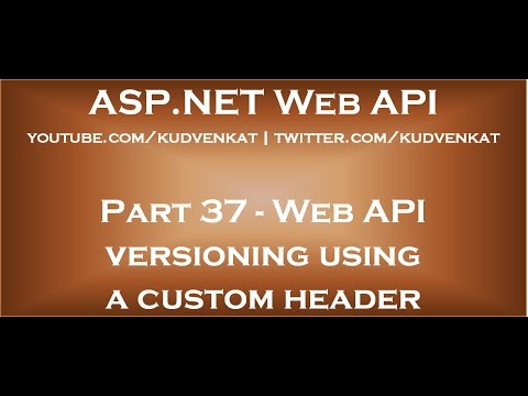 Web API versioning using a custom header