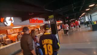 Walking around Little Caesars Arena main concourse