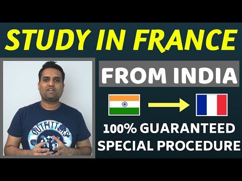 Study in France from India || Study in France for Indian Students