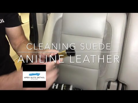 Cleaning tips for Aniline leather, Suede, Faux Suede (Heaven for Leather Ph neutral, gentle cleaner)