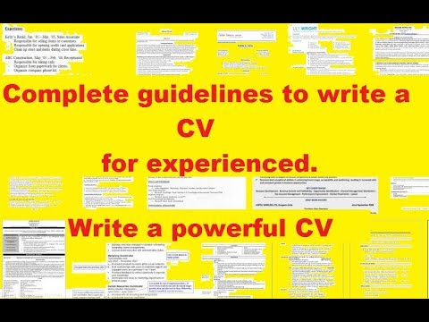 How to Write a Resume (work experience)