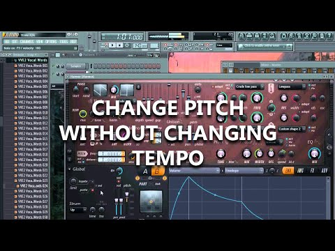 Change Pitch Without Changing Tempo  [FL Studio] [Tutorial]