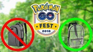 GO FEST CHECKLIST 2018! MUST BRING & BANNED ITEMS! Pokemon GO | ZoeTwoDots