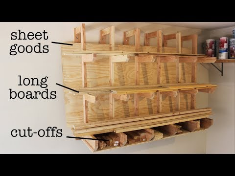 How to Build a Wall-Mount Lumber Rack