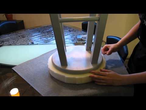 {diy craft} DIY Bar Stool Upholstery