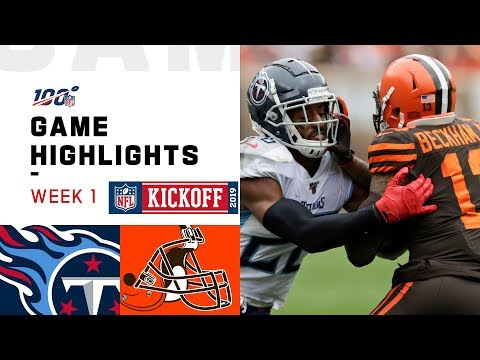 Titans vs. Browns Week 1 Highlights | NFL 2019