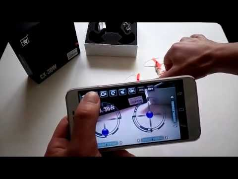 How you Connect and Control Cheerson CX-30W WIFI Quadcopter with Android Phone