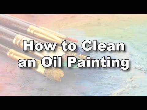 how to clean wash oil painting